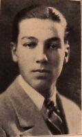Ultra Rare Cesar Romero Senior High School Yearbook 1926  1966 Batman TV Joker
