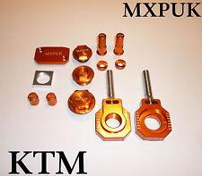 KTM SX SXF 2007 2012  MXPUK ANODIZED BLING KIT ALLOY PARTS PACK IN ORANGE (633)