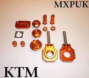 KTM SX SXF 2013 2015  MXPUK ANODIZED BLING KIT ALLOY PARTS PACK IN ORANGE (634)