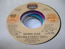 Soul Promo 45 NORMA JEAN Having a Party on Bearsville (