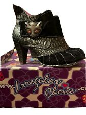 Irregular Choice Black Miaow Ankle Boot With Purse Size UK6