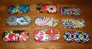 Vera Bradley HARD EYEGLASS CASE eye eyeglasses sunglasses 4 tote backpack purse