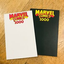 MARVEL COMICS #1000 SKETCH COVER  BLACK AND WHITE BLANK COVER SET