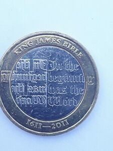 KING JAMES BIBLE £2 TWO POUND COIN 2011 - GREAT BRITISH COIN HUNT - HARD TO GET