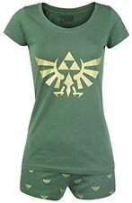 Nintendo Legend of Zelda Hyrule Royal Crest Shortama Nightwear Set Large Green