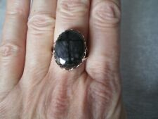 Picasso Jasper ring, 15 carats, size P/Q in 3.89 grams of 925 Sterling Silver