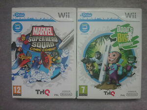 Marvel Super Hero Squad Comic Combat & Doods Udraw Wii Game bundle Nintendo U