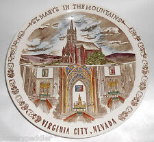Vernon Kilns Pottery St. Mary's In The Mountains Virginia City Plate! MINT