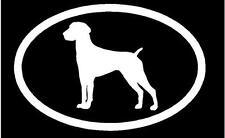 White Vinyl Decal -German Shorthair Pointer euro dog puppy love cute sticker