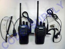 Radio Communication for Security Staff 2 UHF Radios 2 Air Tube Headsets Package