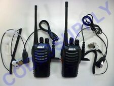 2 x Radio Communication Security Staff UHF Radios Air Tube Headset Package lot