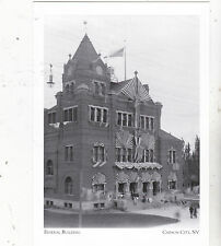 """Postcard-""""Federal Building""""(Waiting for Pres. Roosevelt)-Carson City, NV (#91)"""