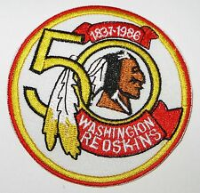 LOT OF (1) NFL WASHINGTON REDSKINS 50 YEAR 1837-1986 EMBROIDERED PATCH ITEM # 15