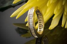 Schmuck Memoire Ring mit Diamanten im Baguette Schliff Gelbgold 750 18 Karat 56