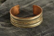 Tibetan Filigree Cuff Jewelry Copper Brass White Metal DetailArtisan Handcrafted