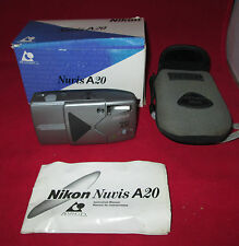 Nikon Nuvis A20 Aps Point and Shoot Film Camera with Pouch & Box