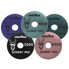 Weha 4 inch Donkey (Monkey) Quartz Face Polish Surface Polishing Pad Full Set