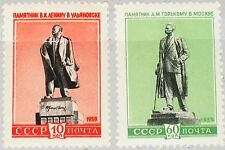 Russia Unione Sovietica 1959 2297-98 ex 2204-11 Soviet statues statue Lenin Gorkij **