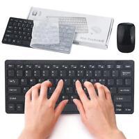 Dünn Mini 2,4 G Drahtlos Wireless Optisch Tastatur Maus Set für PC Laptop Win7/8