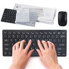 dünn Mini 2.4G G drahtlos wireless optisch Tastatur Maus Set für PC Laptop Win7/