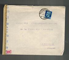 1943 Cadenabbia Italy censored cover to red cross Switzerland