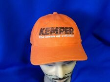 Kemper AIr Solutions Welding  Company Hat Orange NWOT Embroidered Mens