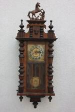 Große dekorative Wanduhr Regulator, um 1900  Höhe 106 cm