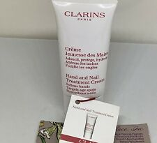CLARINS PARIS HAND AND NAIL TREATMENT CREAM 1oz/30ml SOFTENS HANDS + TAB SEALED