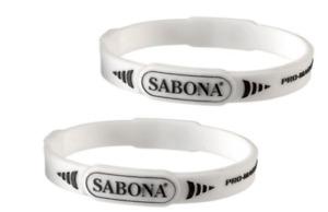 2 Pack - Sabona Pro-Magnetic Sport Magnetic Bracelet, White, Large