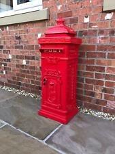 METZ Large Red Letter Box Post Box Mail Letterbox Drop Tall Free standing