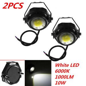 2PCS Car 6000K 10W U2 White LED Work Light Driving Fog Lamp For Off-road SUV 4x4