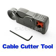 Rotary Coax Coaxial Cable Cutter Tool RG58 RG6 Stripper Coax Rotary Cutter E0Xc