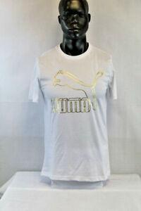 PUMA S/S CLASSICS LOGO T-SHIRT WHITE/GOLD 595132-62