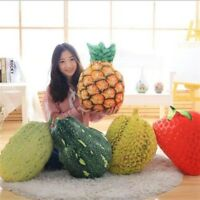 3D Simulation Food Pillow Fruit/Vegetable Plush Toy Sofa Cushions Home Office