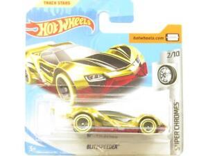 Hot Wheels Blitzspeeder Super Chromes Doré Court Carte 1 64 Echelle Scellé Neuf