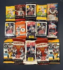 Unopened Football Packs.  100+ Cards. Guaranteed relic jersey patch or Auto