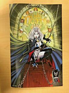 Lady Death #1 25th Ann. NYCC Spawn #300 Campbell Homage by Marat Mychaels LOGO