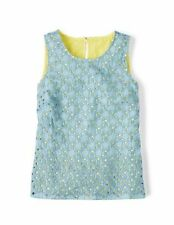 NWT BODEN MIRANDA BLUE BRODERIE TOP TEE SHIRT BLOUSE TUNIC SIZE US 14