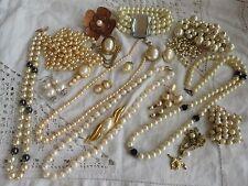 HUGE Job Lot of Vintage 1950s/60s/70s PEARL Costume Jewellery