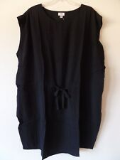 Old Navy Womens 4X Plus Rayon Tie Front Knee Length Dress Black Rayon New