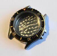 Teil Uhrenhandel Armbanduhr Gehäuse Chrono Leer Schweiz 20 Atm Quarz