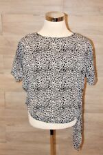 Michael Kors Side Tie Tunic Blouse Top, Black Size Small S NEW
