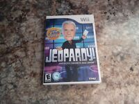 Wii Nintendo JEOPARDY Game Alex Trebek Trivia Quiz Show TV No Manual
