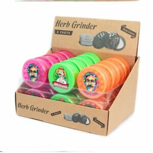 Pablo Tobacco Herb Grinder Plastic Neon Colours 60mm 3 Part Spice Crusher