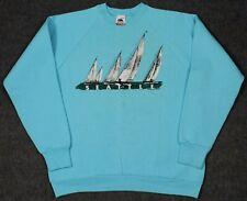 Vintage 80's Seattle Sailboats Crewneck Sweatshirt Large Made In USA