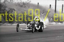 Front Engine Dragster w/ Parachute Deployed - Vintage Drag Racing Negative