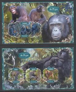 SVVGTA D78 limited 2019-2020 Fauna Wild Animals Monkeys 2 sheets