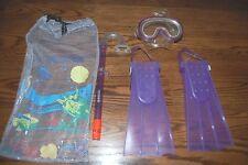 New listing Nwt Speedo Snorkling Set Dive Mask Fins Pipe Kids Children New
