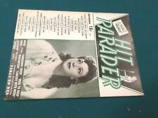 """HIT PARADER""  MAGAZINE ~ NOVEMBER 1943, vol 2, no 1~ FEATURES BEA WAIN ON COVER"