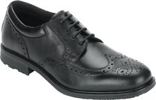 Rockport Essential Details Waterproof Wing Tip Shoes (Men's) in Black Leather
